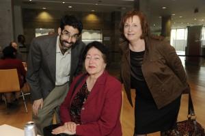 L to R: Prof. Eric Lawee, Mira Adler, Prof. Sara R. Horowitz